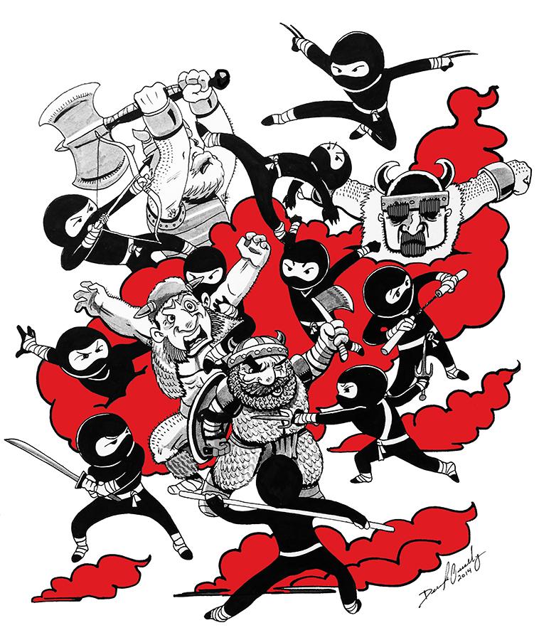 Ninjas vs Vikings Small
